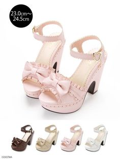 Stuff footwear with the use of cork feet are warmer atmospheric condition footwear essentials. Pink Shoes, Baby Shoes, Shoes Uk, Cute Shoes, Me Too Shoes, High Heels For Kids, Kawaii Shoes, Beautiful Sandals, Girls Heels