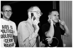 William S. Burroughs (John Giorno is on the right and Keith Haring is on the left)