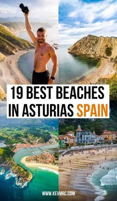 If you love the outdoors, Asturias is great for 2 things: epic hikes in the mountains, and incredible beaches. In this guide, we'll see the 19 best beaches in Asturias Spain. Whether you're looking for a beach to relax, epic views, a good place to surf or even shallow water for your kids, you'll find a beach for you in this list. asturias spain beach | asturias spain pictures | asturias spain nature | asturias spain photography | trip to spain travel guide | northern spain tr Spain Travel Guide, Europe Travel Tips, European Travel, Travel Destinations, Spain And Portugal, Portugal Travel, Asturias Spain, Beaches In The World, Travel Inspiration
