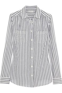 J.Crew|Striped cotton-blend shirt|NET-A-PORTER.COM
