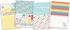 FREE Rainy Days papers from issue 110 of Papercraft inspirations! - Papercraft Inspirations