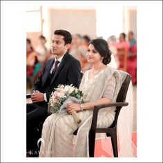 Christian Bridal Saree, Christian Bride, Christian Weddings, Engagement Dress For Bride, Couple Wedding Dress, Long Wedding Dresses, Bridal Hairstyle Indian Wedding, Indian Wedding Theme