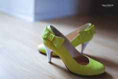 chaussures vert pomme