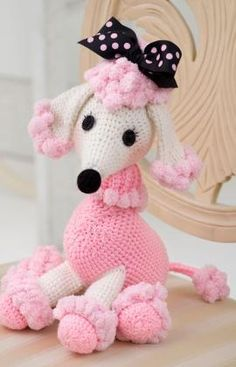 So cute - free crochet pattern. There are some nice free patterns on Red Heart's website.