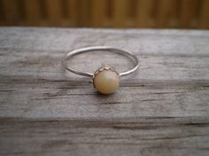 Ethiopian Opal Cabochon Ring Sterling Silver Size 9.5 by tlw1212