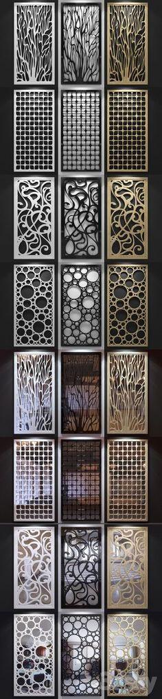 3d models: Other decorative objects - Set of decorative panels