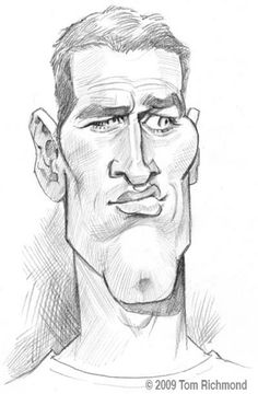 Paul Newman (Caricature) Dunway Enterprises - http://www.learn-to-draw.org/caricatures_clb.html?hop=dunway