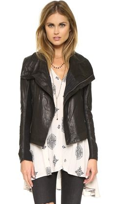June Fitted Asymmetrical Jacket