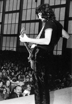 Jimmy Page playing in Reykjavik, as part of a cultural exchange program, June 22, 1970.