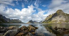 Shapes of The North - The beautiful mountains of Lofoten in Norway. Lofoten, Beautiful Images, Norway, Shapes, Mountains, Water, Travel, Outdoor, Water Water