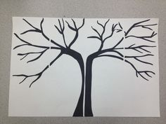 I got this idea from pinterest and adapted it. I drew a tree and then made many copies. I read a book about the seasons then we made each season on each segment. You can see a space that I left to quarter the paper.