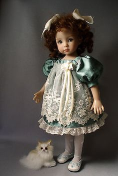 Silk-Antique-Lace-DRESS-13-Dianna-Effner-Little-Darling-Dolls-House-of-Bleus. Ends 9/30/14 with BIN of $129.95. Sold for reduced BIN of $119.95 on 9/28/14