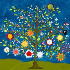 Love this tree of life art for a nursery!