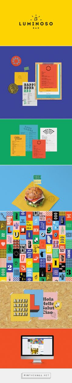 El Luminoso Bar on Behance... - a grouped images picture - Pin Them All