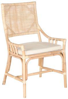 Rattan Arm Chair Natural White Wash
