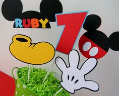 5 Mickey Mouse Clubhouse Birthday Party by sweetheartpartyshop