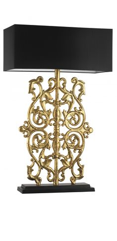 Designer Antiqued Gold Leaf Baroque Lamp, sharing luxury designer home decor… Luxury Table Lamps, Large Table Lamps, Luxury Lighting, Lighting Design, Modern Lighting, Lamp Inspiration, Chandeliers, Baroque, Rococo