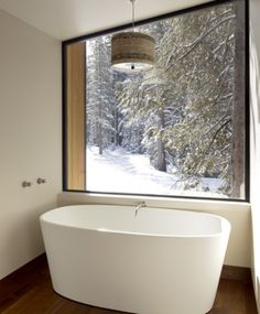 deep tub with a view