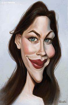 Caricatura de Liv Tyler.