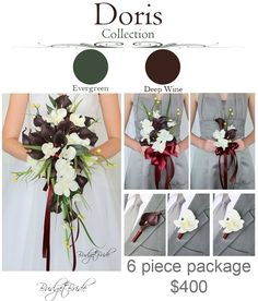 Cascading Davids Bridal Wedding Flowers wine real touch calla lilies cascading lily orchids grass brides flowers bridesmaid boutonniere boutonnieres