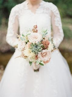 A Stylish Modern-Vintage Wedding Inspiration Shoot in Blush and Gold from Elizabeth Ngundue Photography