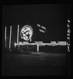Hollywood, California. Neon signs at the famous Earl Carroll theater  http://photogrammar.yale.edu/