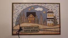 Kreativ Pyssel: Nytt år, kanskje nytt hus? Tim Holtz, Globe, Scrapbooking, Frame, Painting, Home Decor, Creative, Picture Frame, Speech Balloon
