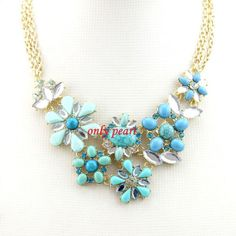 New  Statement Turquoise Necklace Bubble Necklace by OnlyPearl, $19.76
