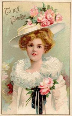 Vintage- To My Valentine My Sweet Valentine, Valentine Images, Vintage Valentine Cards, Vintage Greeting Cards, Vintage Ephemera, Vintage Holiday, Vintage Postcards, Images Vintage, Look Vintage