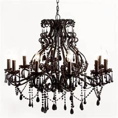 Sassy Boo Black Chandelier (Image 1) by The French Bedroom Company