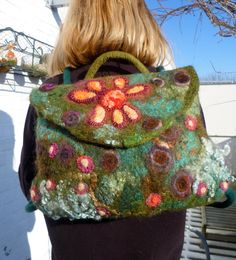 Travelling flowers backpack by CashenCo on Etsy, $70.00