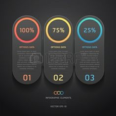 Modern black infographics banner  Vector illustration  can be used for workflow layout, diagram, web design, number options