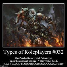 PC archetype: Psycho Killer