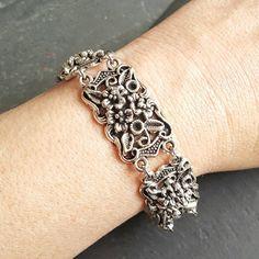 Plus Size Bracelet - Silver Bracelet - Ren Faire - Renaissance Bracelet - Large Bracelet - Handmade Jewelry - Wedding Bracelet Gift for Her - Handmade Jewelry - Ren Faire - DRAVYNMOOR