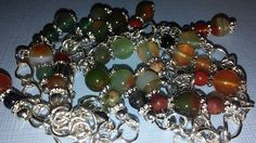 Glass Crystal Shoppe has Hat Accessories, Earrings, Ankle Bracelets & More to Come!!!  Glass Crystal Shoppe is an Extension of Backdrop Party Shop...Adjustable Ankle Bracelet Agate & Gemstone Ankle Bracelet