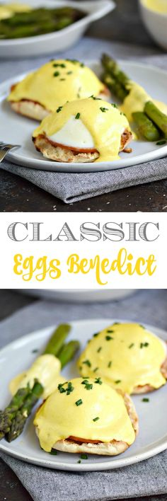 Don't be intimidated by the name, this Classic Eggs Benedict is pretty simple to prepare using a few time saving tools to get breakfast ready in no time | cookingwithcurls.com