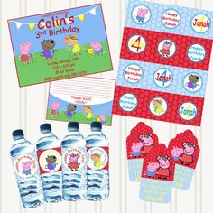 PEPPA and FRIENDS Printable Party PACKAGE ... perfect for the boys who love peppa!!!