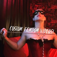 You can apply for a #custom #femdom  #video  . Only for men  willing to pay