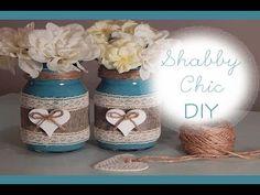 DIY: Shabby Chic || Barattoli decorati per San Valentino|| Coll. con FairyFashionArt - YouTube