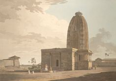 Chaturbhuja Vishnu temple, Deo, w. Bihar  consecrated to the Sun God Surya in the 10th C. and converted into a Vishnu temple in the 15th C.. The curvilinear superstructure is typical of Northern India -this sikhara is crowned by an 'amalaka', a stone disk. Some propose it symbolizes the sun and is a spiritual gateway up. Or it may be a lotus the symbolic seat of the deity inside. Perhaps here the first meaning was converted to second.