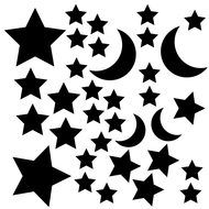 Stars and moons celestial cut file