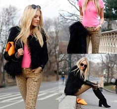 Cheetah, neon and fur...oh my (by Shea Marie) http://lookbook.nu/look/3113101-Cheetah-neon-and-fur-oh-my