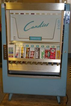 Old time candy vending machine