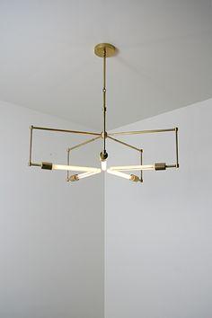 handmade brass pendant light fixture - 'asterix'.