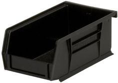 AkroMils 30220 Plastic Storage Stacking Akro Hanging Bin 7Inch by 4Inch by 3Inch Black Case of 24 ** See this great product.