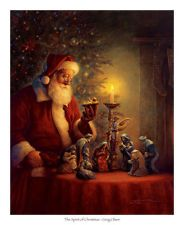 The Spirit Of Christmas by Greg Olsen Holiday Santa Claus Nativity Print Poster