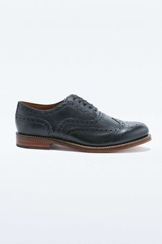 Grenson Angus Black Brouge Shoes