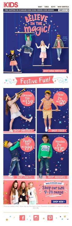 #newsletter #email #web #weblayout #kids #cottonon #festive #happy