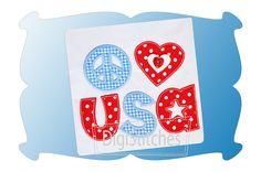 I OWN - Peace Love USA Applique