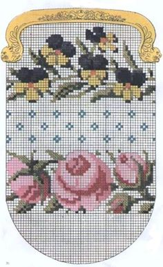 Victorian wool work chart... no color chart available, just use pattern chart as your color guide.. or choose your own colors..